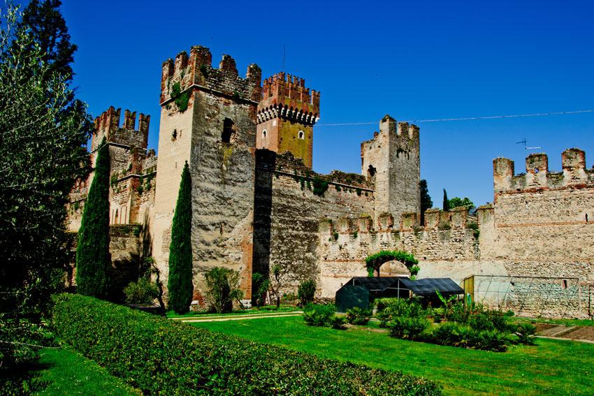 Castle of Torri del Benaco on Lake Garda