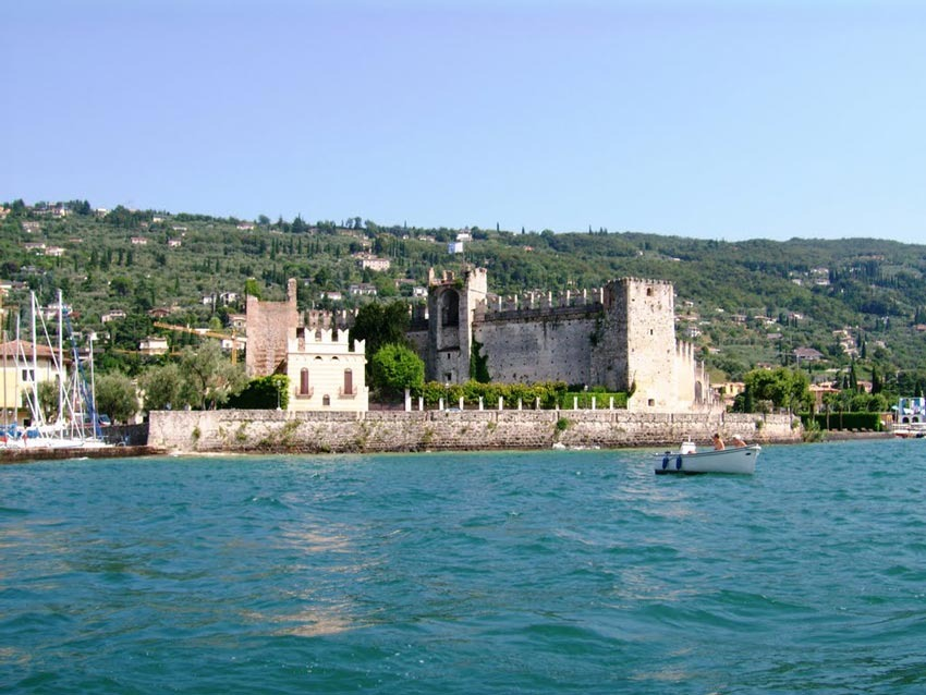 Panorama of Torri del Benaco on Lake Garda