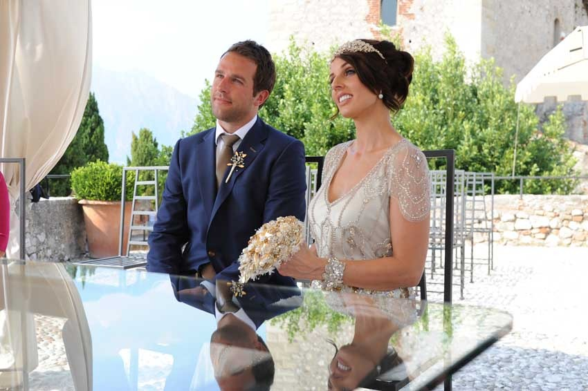 Outdoor Civil ceremony in Malcesine on Lake Garda