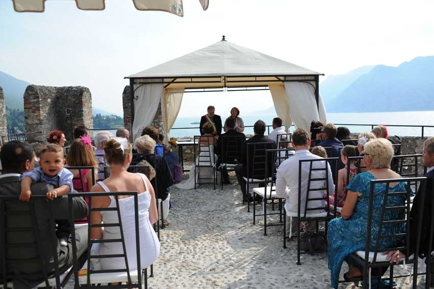 Civil ceremony in Malcesine on Lake Garda