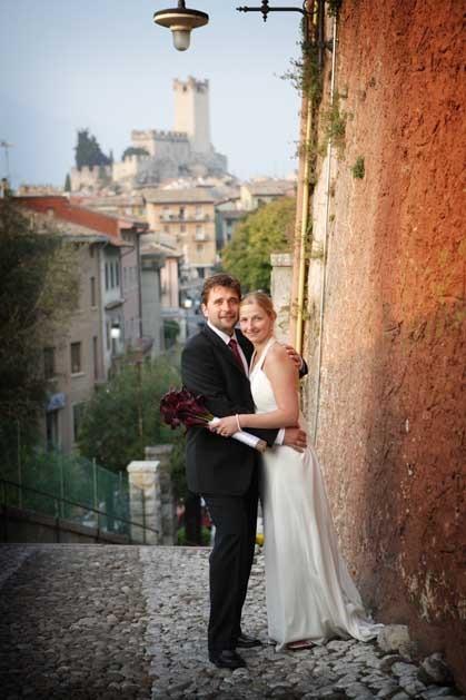 Civil wedding at Torri del Benaco on Lake Garda