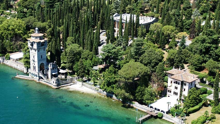 Panorama of Gardone Riviera for Lake Garda weddings