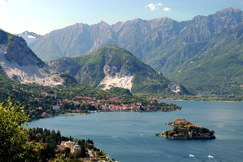 The town of Baveno on the shores of Lake Maggiore
