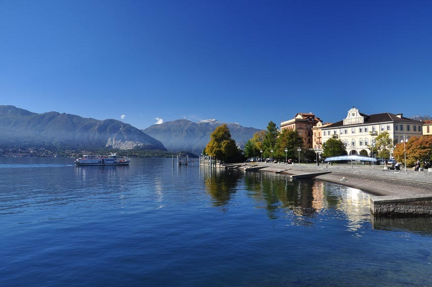 The town of Verbania on Lake Maggiore