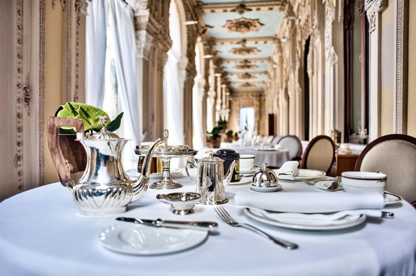Restaurant of Villa Crespi for Lake Orta weddings