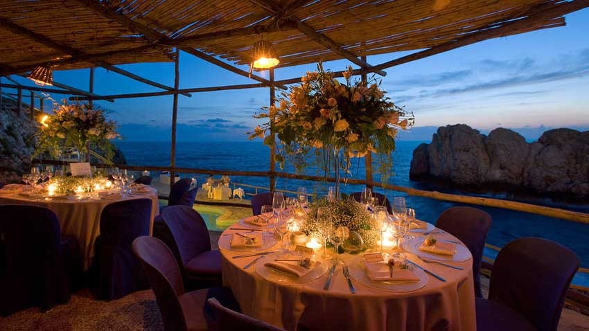 Wedding Dinner at Lido del Faro in Capri