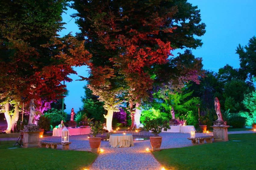 Gardens of Villa Bernardini in Lucca