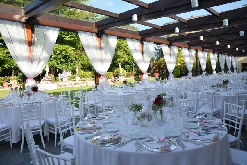 Wedding reception at Villa Bernardini in Lucca