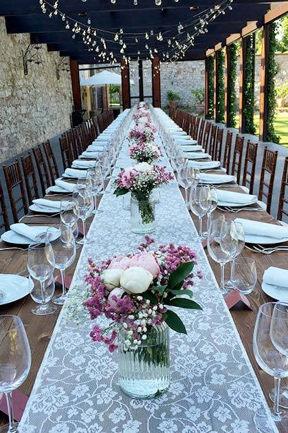 Wedding banquet at Villa Bernardini in Lucca