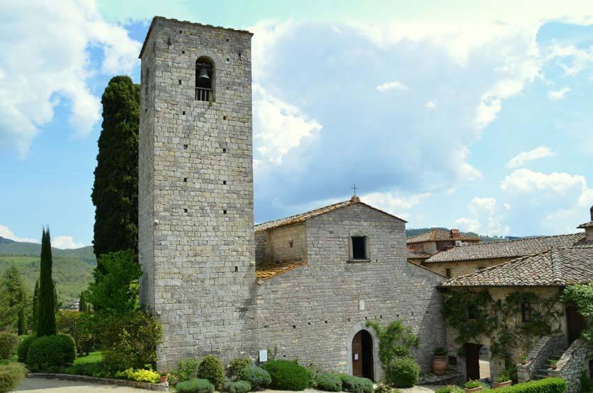 Church in Gaiole in Chianti for weddings in Tuscany