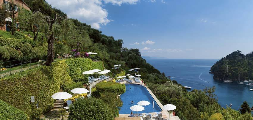 Pool of Hotel Splendido for weddings in Portofino on the Riviera