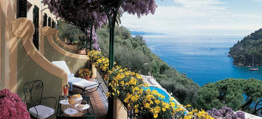 Suite of Hotel Splendido for weddings in Portofino on the Riviera