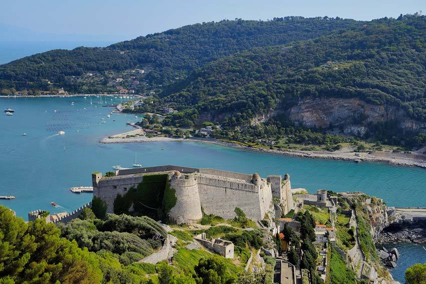 Portovenere castle on the Italian Riviera