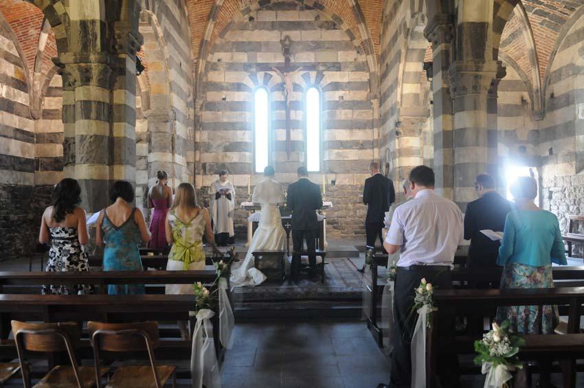 Catholic ceremony in Portovenere