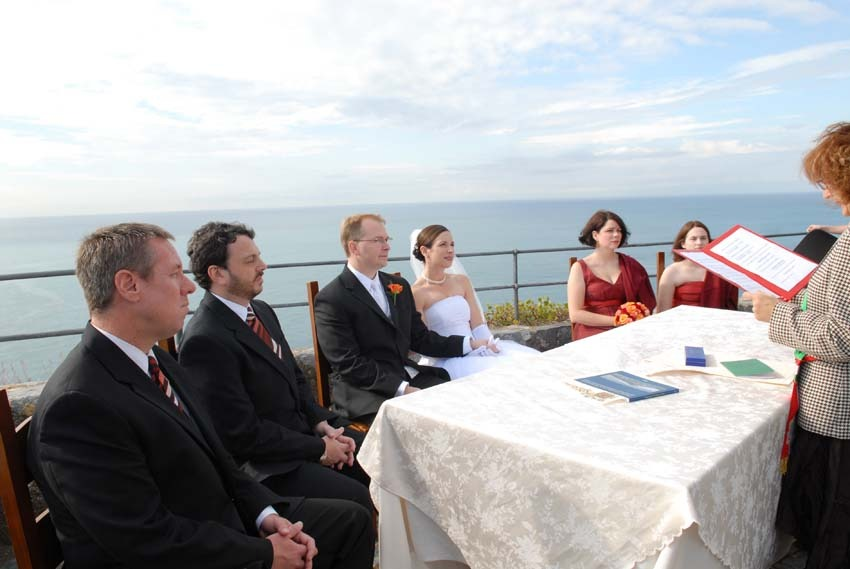 Outdoor civil ceremony in Portovenere