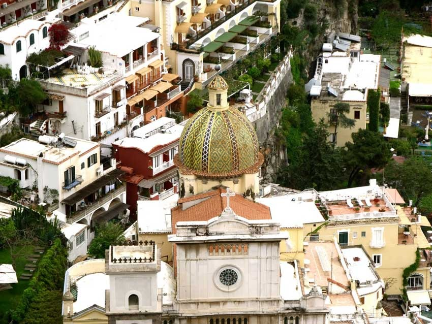 Positano church for catholic ceremonies