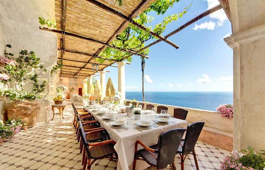 Positano luxury villa for wedding receptions