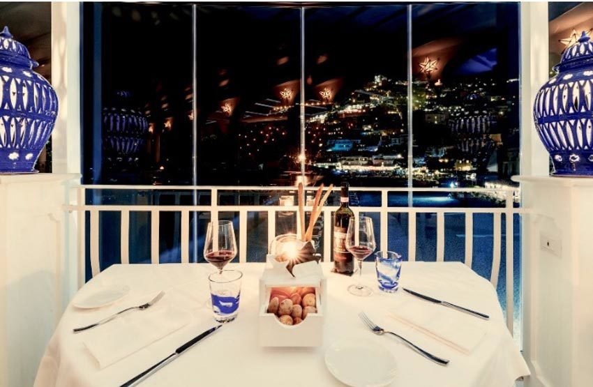 Restaurant for wedding receptions in Positano