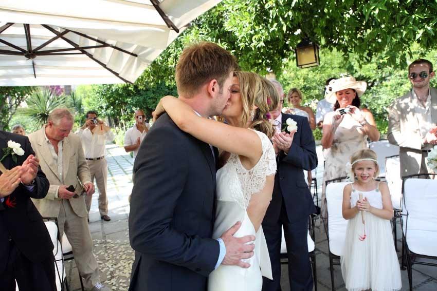 Protestant wedding in Positano