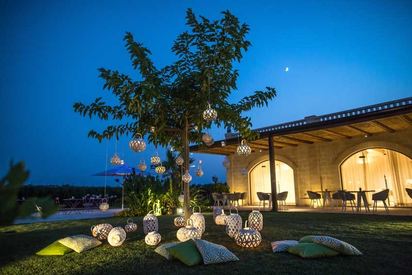 Wedding reception at Castello Monaci in Puglia