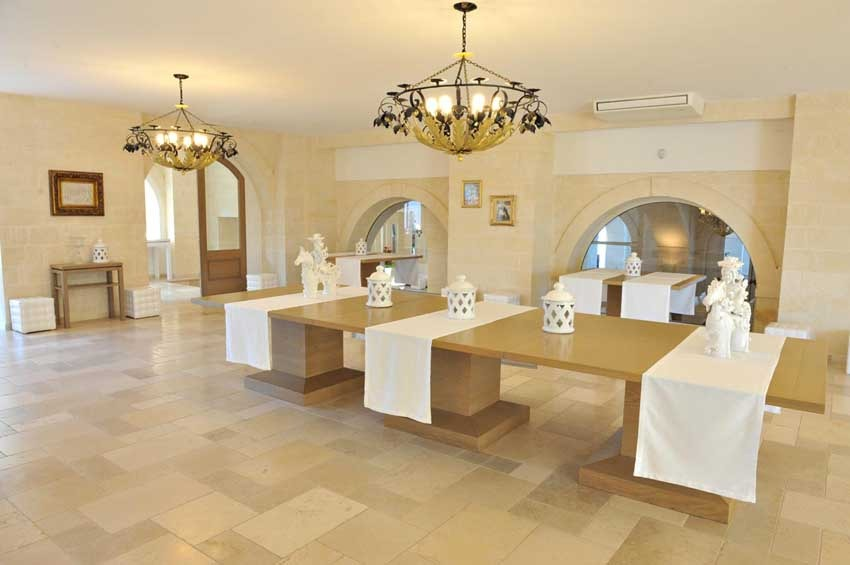Interior of Masseria Traetta for weddings in Puglia