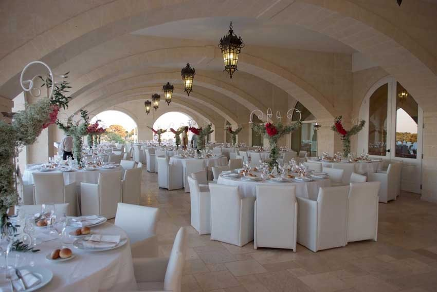 Wedding reception at Masseria Traetta for weddings in Puglia