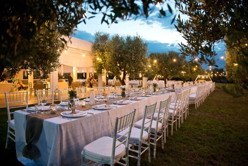 Wedding reception at Masseria Don Luigi in Puglia