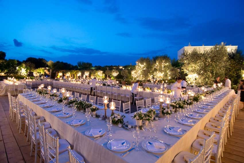 Wedding reception at Torre Coccaro in Puglia