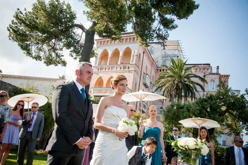 Outdoor civil ceremony in Ravello