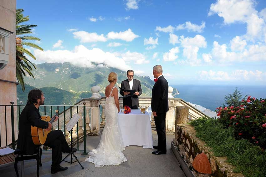 Outdoor symbolic ceremony in Ravello