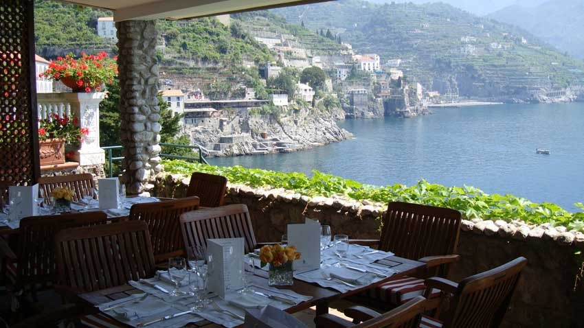 Beach Club of Palazzo Avino, wedding venue in Ravello