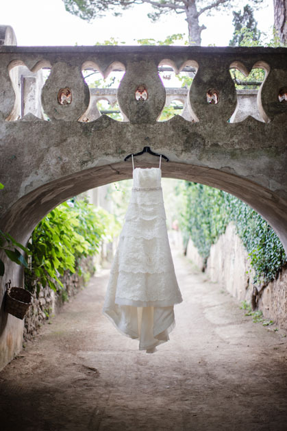 Wedding gown for Ravello wedding