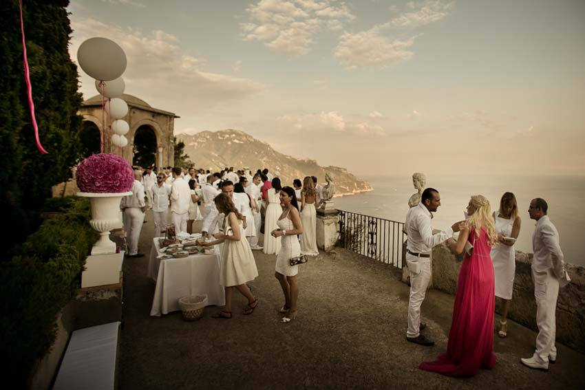 Wedding Tail On Outdoor Terrace In Ravello