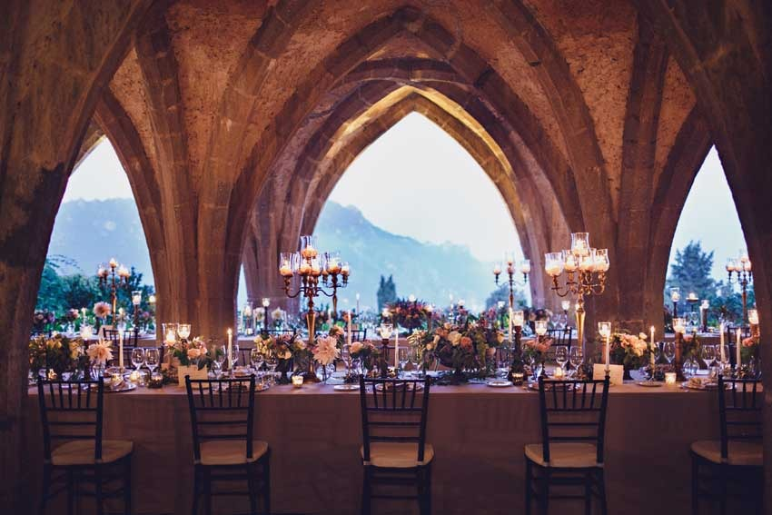 Wedding reception in Ravello villa