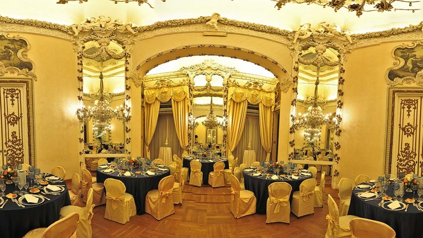 Wedding reception at Palazzo Brancaccio in Rome