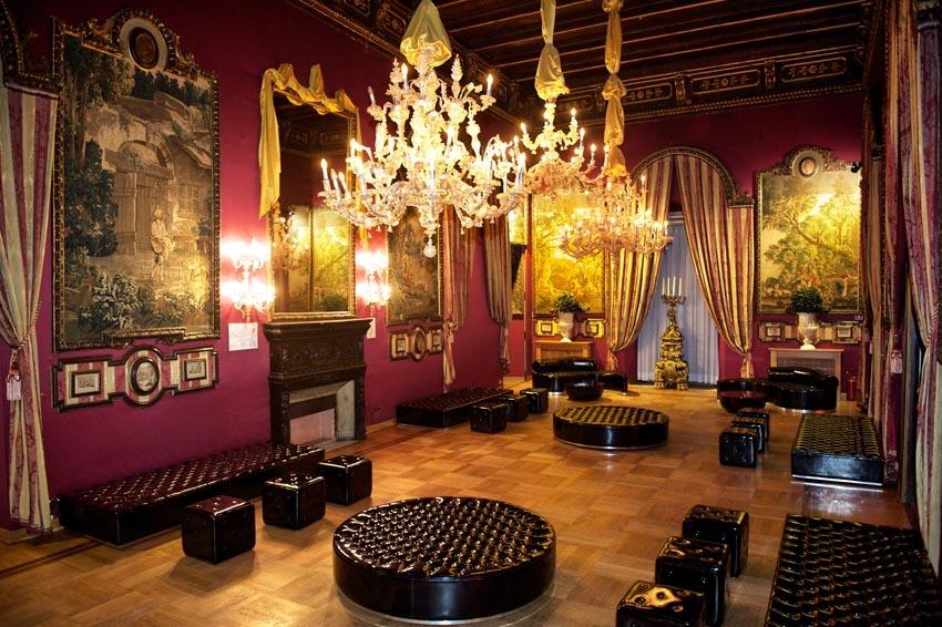 Elegant hall at Palazzo Brancaccio in Rome