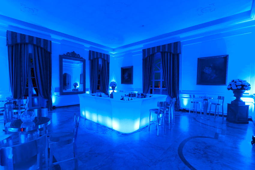 Hall of Villa Miani for weddings in Rome