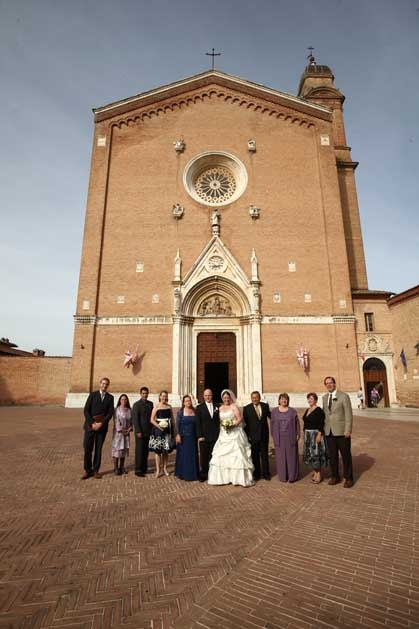 Church for catholic weddings in Siena