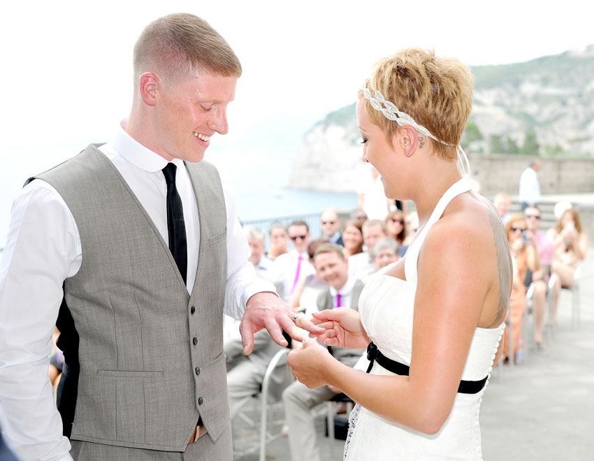 Sorrento civil wedding at Villa Fondi