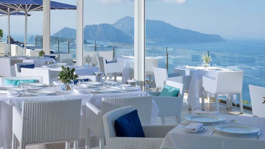 Restaurant of Relais Blu for weddings in Sorrento