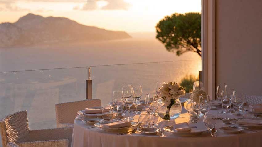 Wedding reception in Sorrento at Relais Blu
