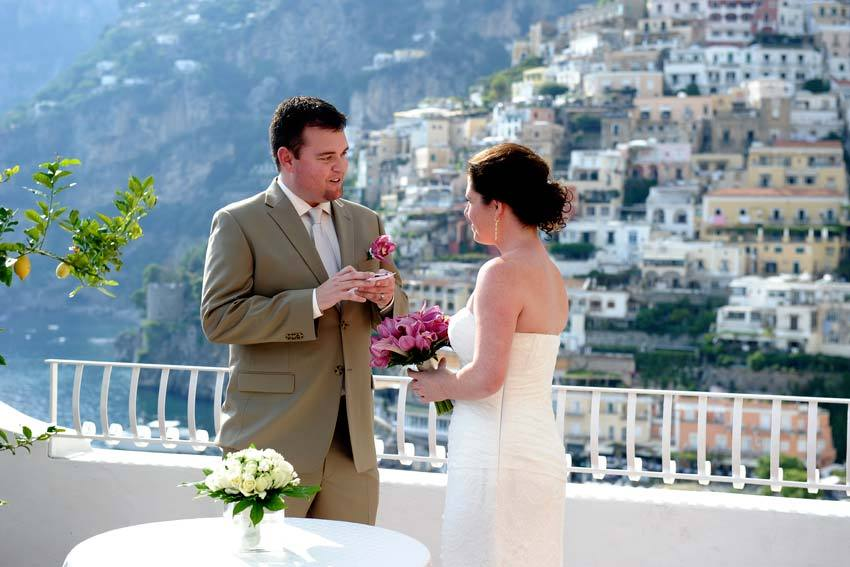 Symbolic wedding in Positano