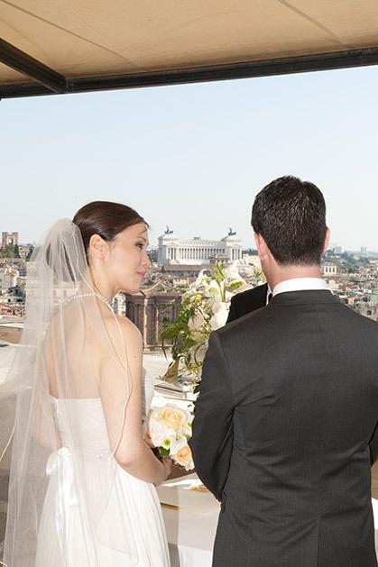 Symbolic wedding in Rome