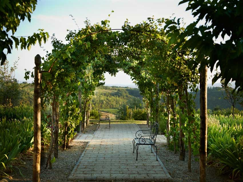 Gardens of Borgo Petrognano for destination weddings in Tuscany
