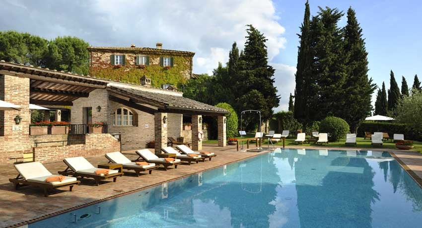 Pool of Borgo San Felice in Tuscany