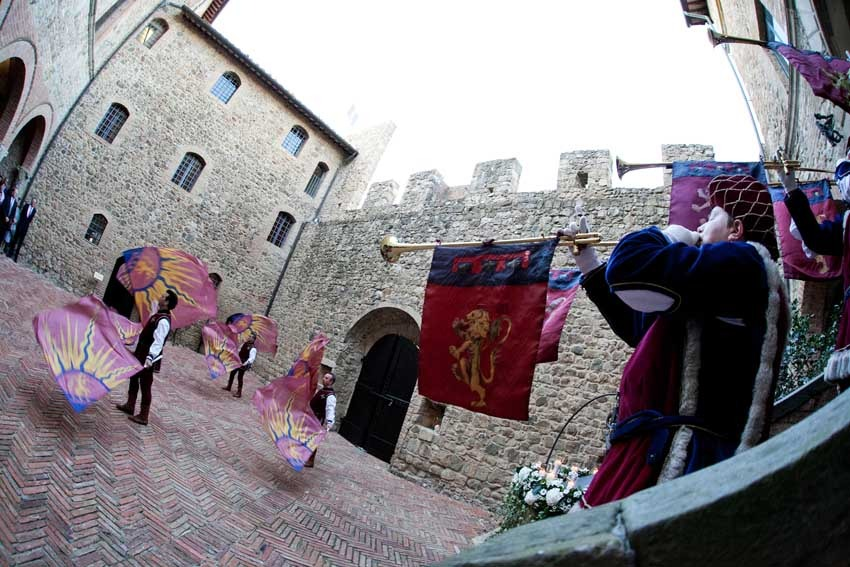 Castello Banfi for castle weddings in Tuscany