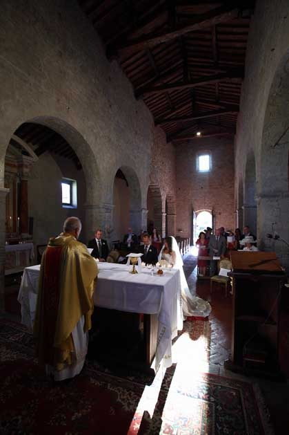 Catholic wedding in Gaiole in Chianti Tuscany