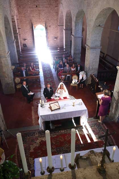 Catholic ceremony in Gaiole in Chianti Tuscany