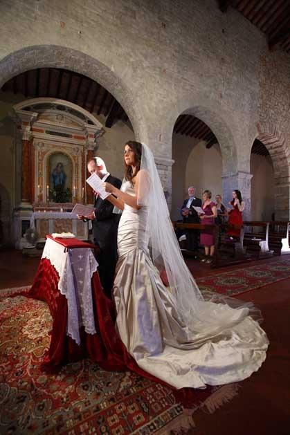 Catholic ceremony in Gaiole in Chianti Tuscany