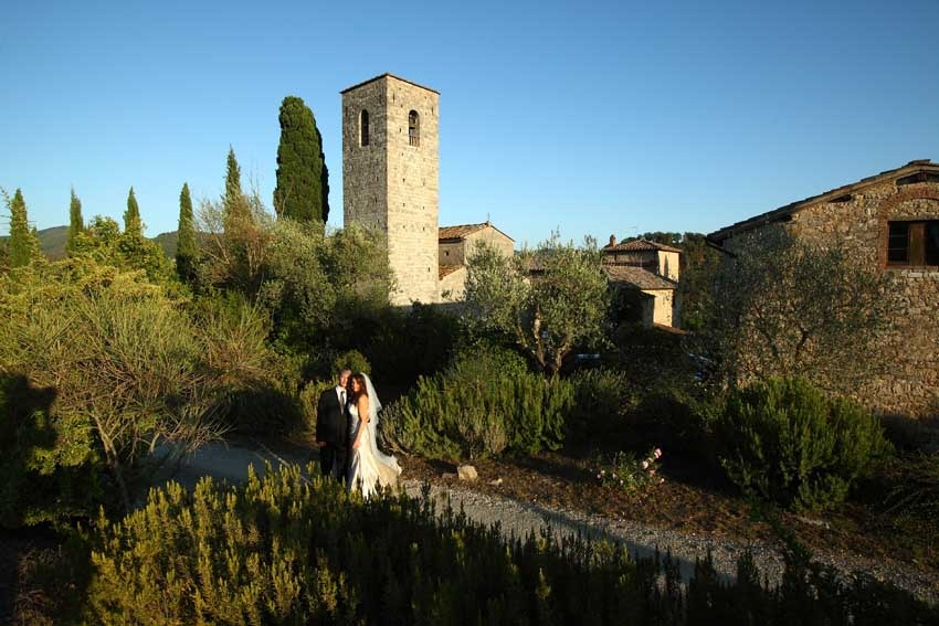 Church for catholic weddings in Gaiole in Chianti Tuscany
